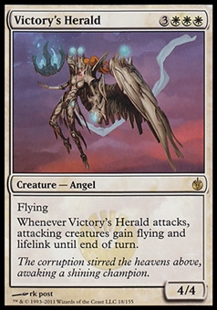 Magic the Gathering Mirrodin Besieged Single Victory's Herald Foil - NEAR MINT (NM)