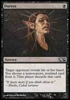 Magic the Gathering 2014 Single Duress Foil - NEAR MINT (NM)