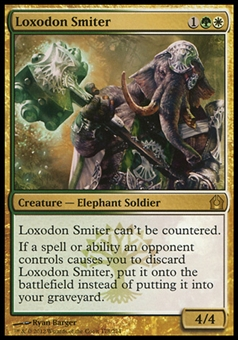 Magic the Gathering Return to Ravnica Single Loxodon Smiter Foil - NEAR MINT (NM)