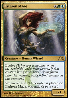 Magic the Gathering Gatecrash Single Fathom Mage Foil - NEAR MINT (NM)