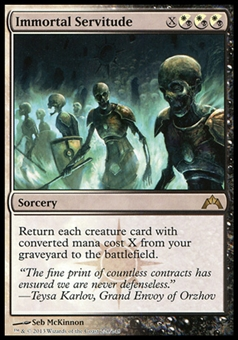 Magic the Gathering Gatecrash Single Immortal Servitude Foil - NEAR MINT (NM)