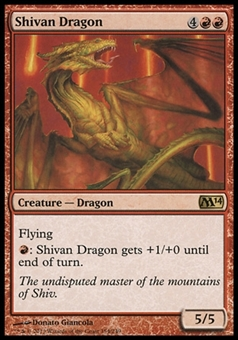 Magic the Gathering 2014 Single Shivan Dragon  x4 (Playset) - NEAR MINT (NM)