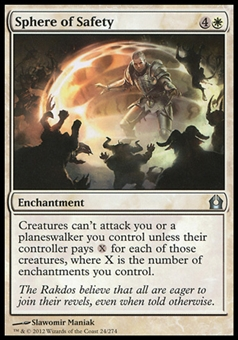 Magic the Gathering Return to Ravnica Single Sphere of Safety Foil - NEAR MINT (NM)