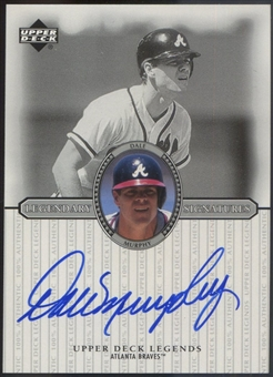 2000 Upper Deck Legends #SDM Dale Murphy Legendary Signatures Auto