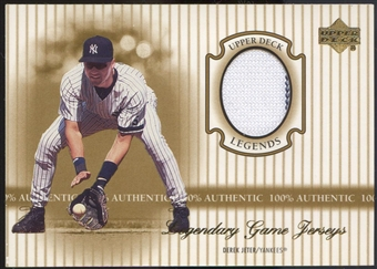 2000 Upper Deck Legends #JDJ Derek Jeter Legendary Game Jersey
