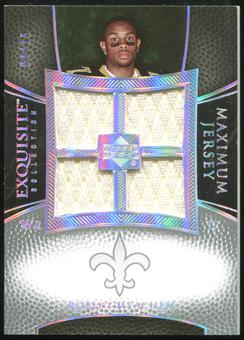 2007 Upper Deck Exquisite Collection Maximum Jersey Silver Spectrum #RM2 Robert Meachem /15