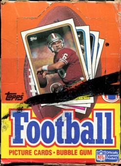 1988 Topps Football Wax Box (VG Box - MINT Packs)
