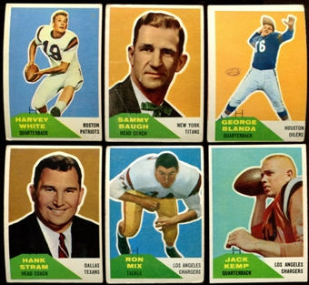 1960 Fleer Football Complete Set (G-VG)