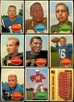1960 Topps Football Complete Set (VG-EX+)