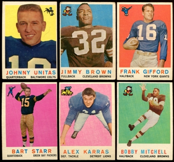 1959 Topps Football Complete Set (VG+)
