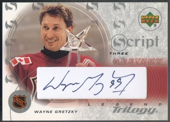 2003/04 Upper Deck Trilogy #S3G1 Wayne Gretzky Scripts AS Auto