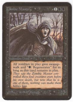 Magic the Gathering Alpha Single Zombie Master - SLIGHT PLAY (SP)