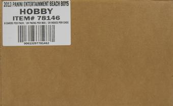 2013 Panini The Beach Boys Hobby 20-Box Case