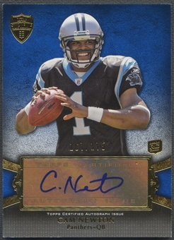 2011 Topps Supreme #SRACN Cam Newton Rookie Auto #167/175