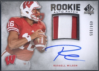 2012 SP Authentic #272 Russell Wilson Patch Auto #494/885
