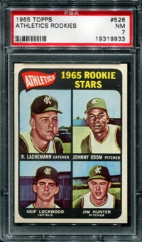 1965 Topps Baseball #526 Jim Catfish Hunter PSA 7 (NM) *9933