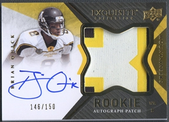 2012 Exquisite Collection #133 Brian Quick Rookie Patch Auto #146/150