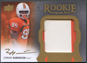 2011 Exquisite Collection #125 Leonard Hankerson Rookie Patch Auto #072/135