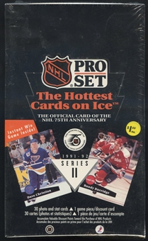 1991/92 Pro Set English/French Series 2 Hockey Prepriced Box