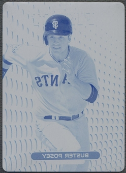 2013 Finest #30 Buster Posey Cyan Printing Plate #1/1