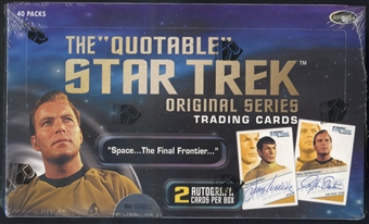 Star Trek The Quotable Original Series Trading Cards Box (Rittenhouse 2004)
