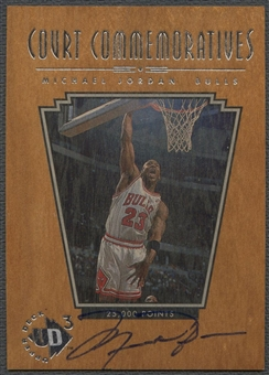 1996/97 UD3 #C1 Michael Jordan Court Commemorative Auto