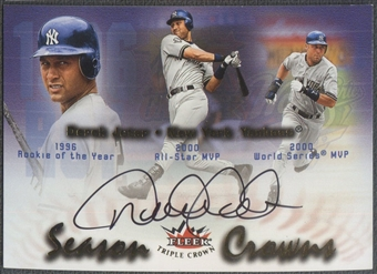 2002 Fleer Triple Crown #SCDJ Derek Jeter Season Crowns Auto /160