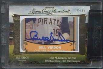 2012 TriStar SignaCuts Baseball Bill Virdon Auto #05/25