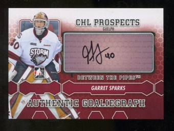 2012/13 In the Game Between The Pipes Autographs #AGSP Garret Sparks Autograph