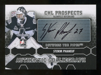 2012/13 In the Game Between The Pipes Autographs #ASP Storm Phaneuf Autograph