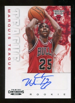 2012/13 Panini Contenders #228 Marquis Teague Autograph