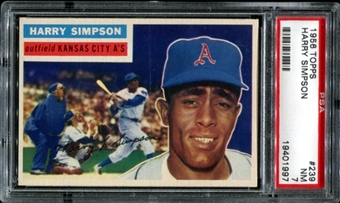 1956 Topps Baseball #239 Harry Simpson PSA 7 (NM) *1997