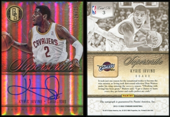 2012/13 Panini Gold Standard Superscribe Autographs #3 Kyrie Irving 19/25