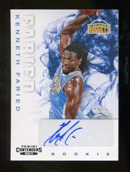 2012/13 Panini Contenders #256 Kenneth Faried Autograph