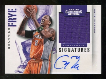 2012/13 Panini Contenders Substantial Signatures Materials #53 Channing Frye Autograph /149
