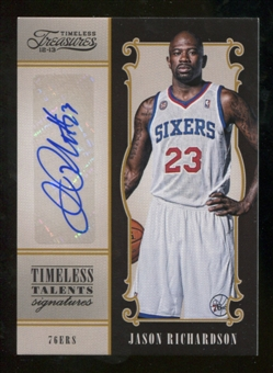 2012/13 Panini Timeless Treasures Timeless Talents Signatures #2 Jason Richardson Autograph /99