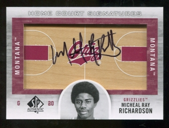 2012/13 Upper Deck SP Authentic Home Court Signatures #MR Micheal Ray Richardson C Autograph