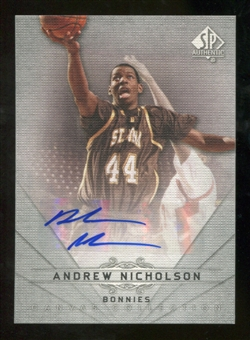 2012/13 Upper Deck SP Authentic Canvas Collection Autographs #CC41 Andrew Nicholson E Autograph