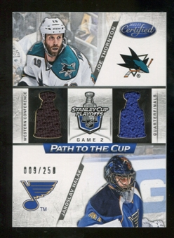 2012/13 Panini Certified Path to the Cup Quarter Finals Dual Jerseys #7 Jaroslav Halak/Joe Thornton /250