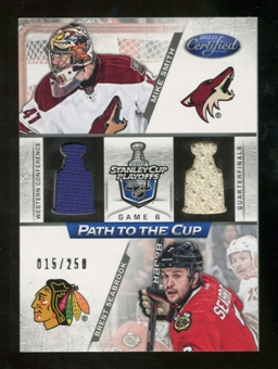 2012/13 Panini Certified Path to the Cup Quarter Finals Dual Jerseys #16 Brent Seabrook/Mike Smith /250