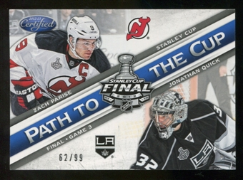 2012/13 Panini Certified Path to the Cup Stanley Cup Finals #3 Jonathan Quick/Zach Parise /99