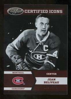 2012/13 Panini Certified Icons #2 Jean Beliveau /250