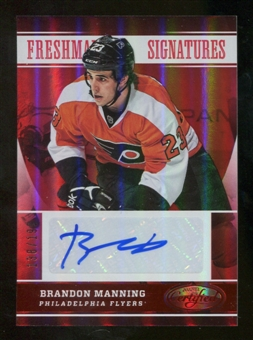 2012/13 Panini Certified Mirror Red #159 Brandon Manning Autograph /199