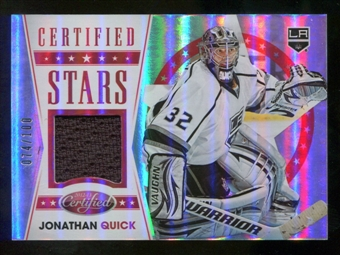 2012/13 Panini Certified Stars Materials Mirror Red Jersey #5 Jonathan Quick /100