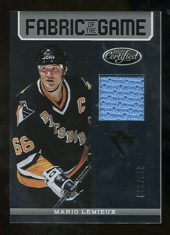 2012/13 Panini Certified Fabric of the Game #24 Mario Lemieux /299