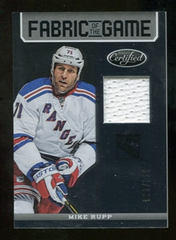 2012/13 Panini Certified Fabric of the Game #25 Mike Rupp /299