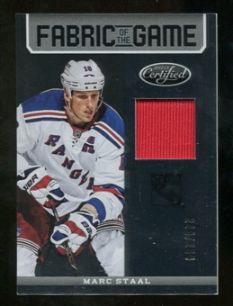 2012/13 Panini Certified Fabric of the Game #69 Marc Staal /299