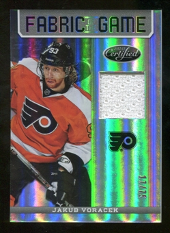 2012/13 Panini Certified Fabric of the Game Mirror Hot Box #96 Jakub Voracek /75