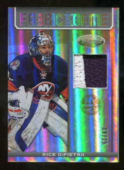 2012/13 Panini Certified Fabric of the Game Mirror Gold Prime #18 Rick DiPietro /25