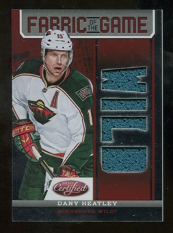 2012/13 Panini Certified Fabric of the Game Mirror Red Jersey Team Die Cut #93 Dany Heatley /150